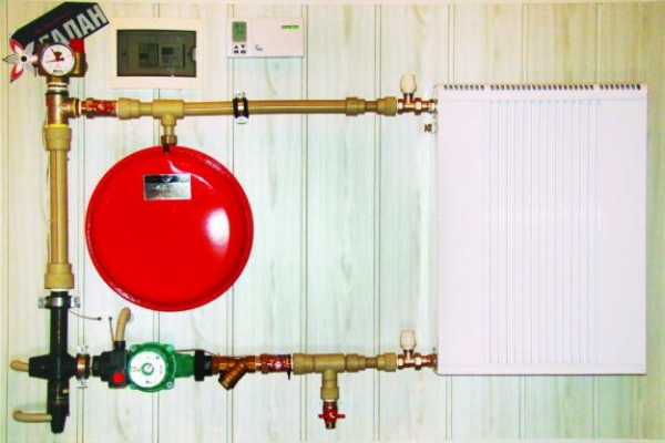 фото кухни с газовым котлом