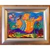Витражная картина «Рыба-кит»